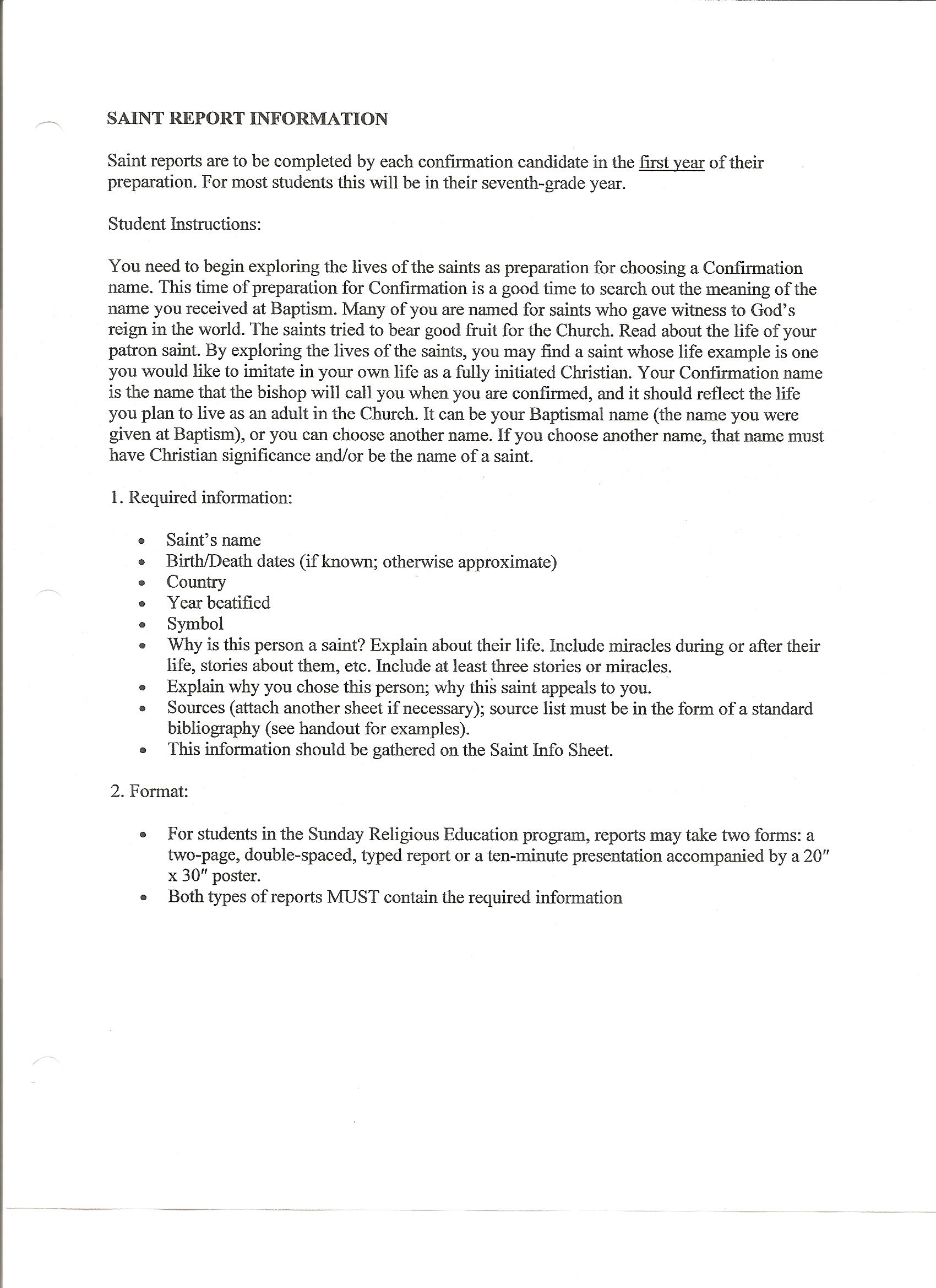 Front page of essay